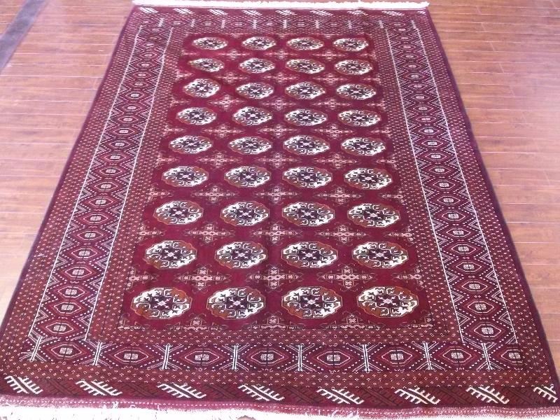 7x10 Handmade Persian Torkaman area rug