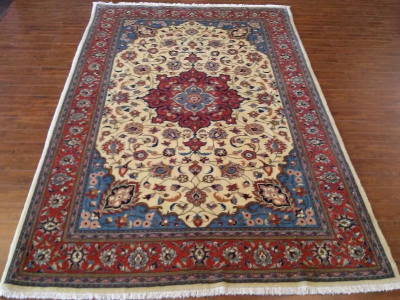 7x10 Handmade Persian Sarrouk area rug