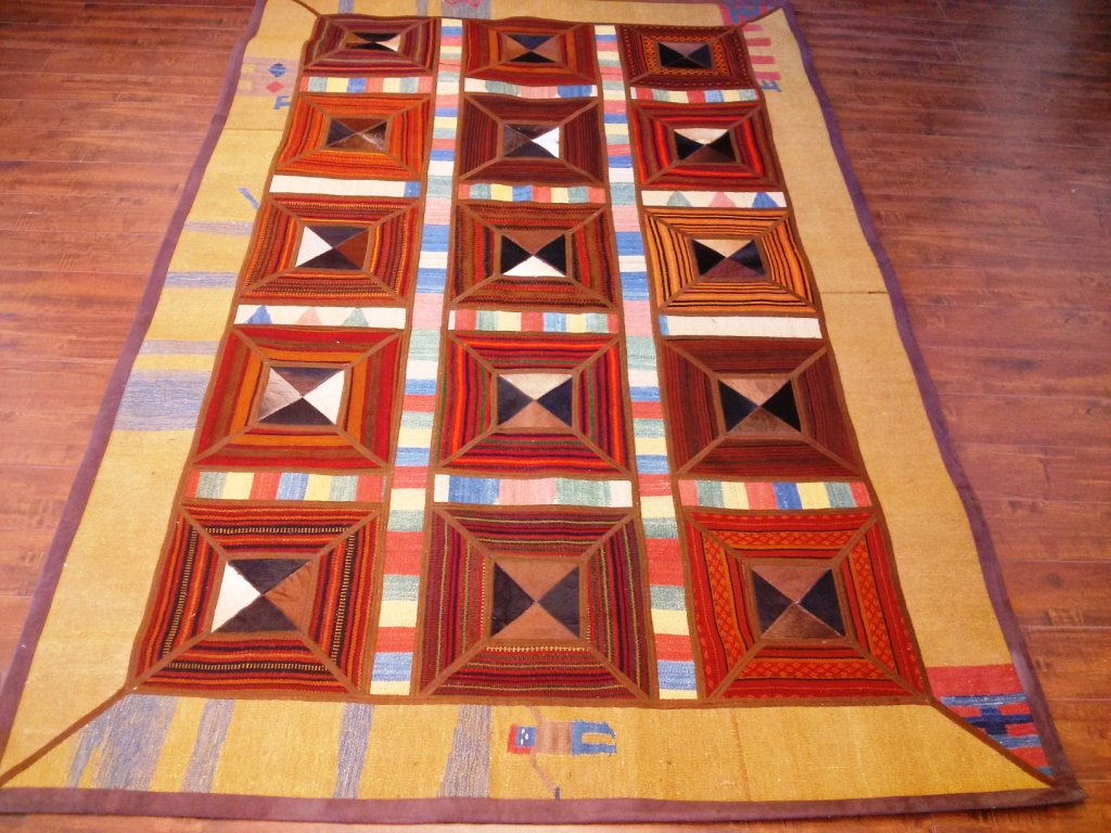 Patchwork 5x7 wool rug