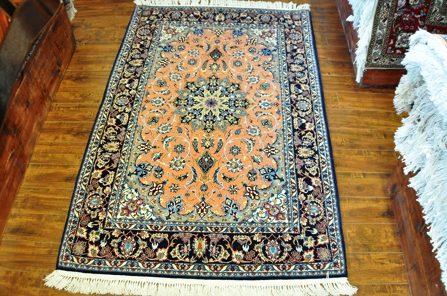 Tabriz 3x5 Silk and wool handmade Persian rug