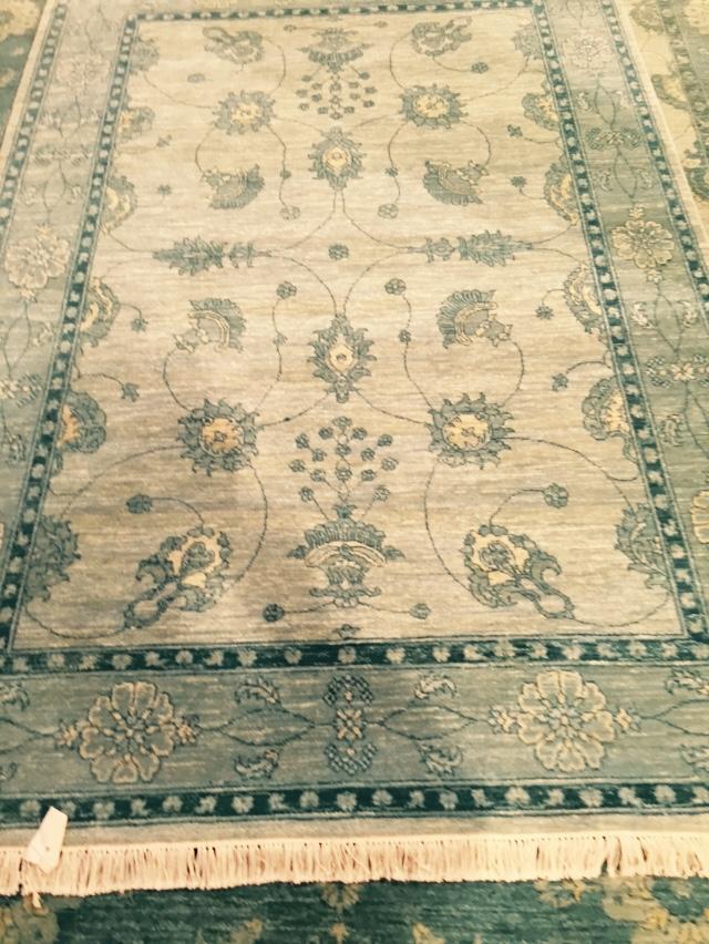 Overdye 5x8 wool area rug