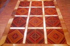 Patchwork 5x8 wool rug