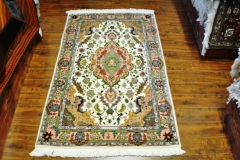Tabriz 3x5 Silk and wool handmade Persian rug