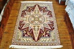 Tabriz 3x5 100% Silk and wool handmade Persian rug