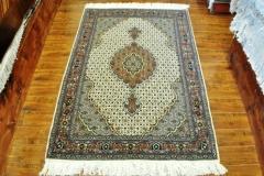 Tabriz Mahi 3x5 Silk and wool handmade Persian rug