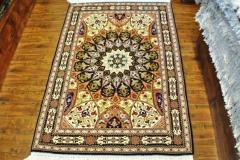 Tabriz Gonbad ( Dome ) 3x5 Silk and wool handmade Persian rug